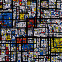 The fractal Mondrian pattern