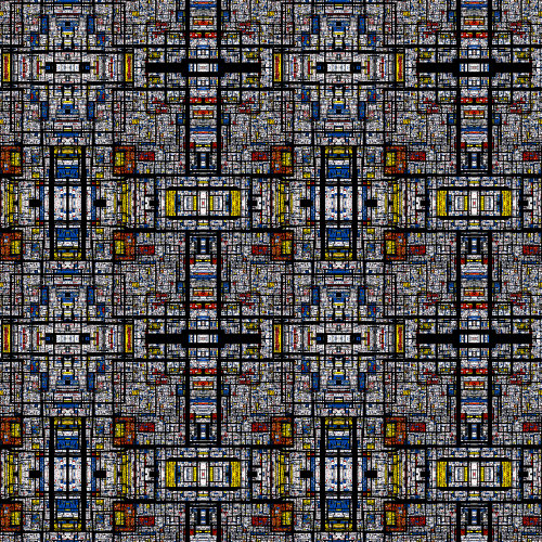 A deformed fractal Mondrian pattern