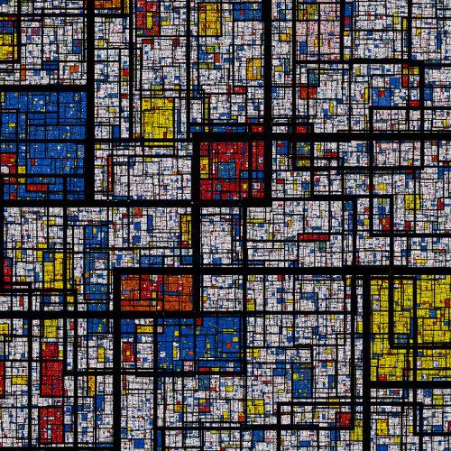 A fractal Mondrian pattern